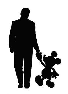 Walt Disney and Mickey Mouse walking silhouette Disney Diy, Disney Cards, Arte Disney, Disney Love, Disney Magic, Disney Cruise, Silhouette Mickey, Disney Castle Silhouette, Silhouette Clip Art