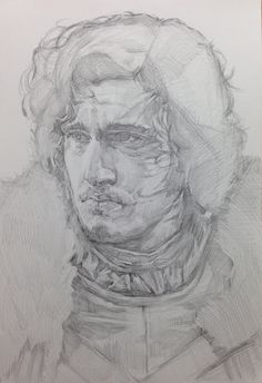 rough sketch for jon snow ~