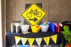 Bike Themed Birthday - cracker wheels, trail mix, wheel pasta
