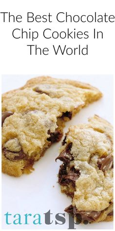 The best chocolate chip cookies in the world is a bold statement. But I mean it. Test me!