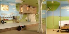Take away vertical space design and playful mezzanine in a tree