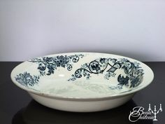 Large Antique French Ironstone Transferware by BeauChateauBoutique