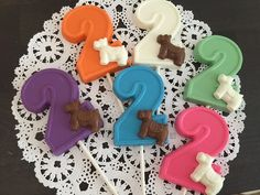 NUMBER TWO DOG Chocolate Lollipop  2nd by CandyConfections on Etsy