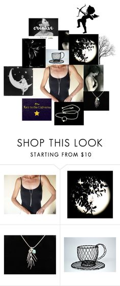 """black"" by bizarrejewelry ❤ liked on Polyvore"