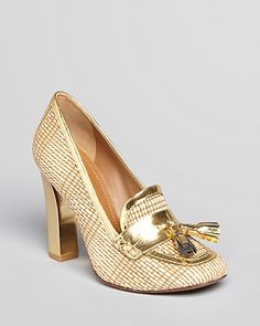 Tory Burch Loafer Pumps - Careen High Heel | Bloomingdales