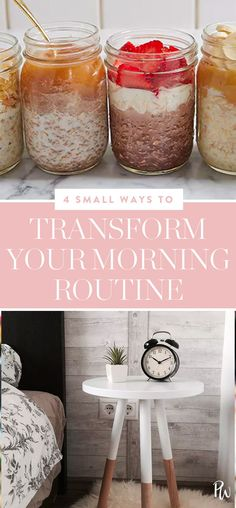 4 Baby Steps That Will Completely Transform Your Morning Routine #morningroutine #selfcare #healthy
