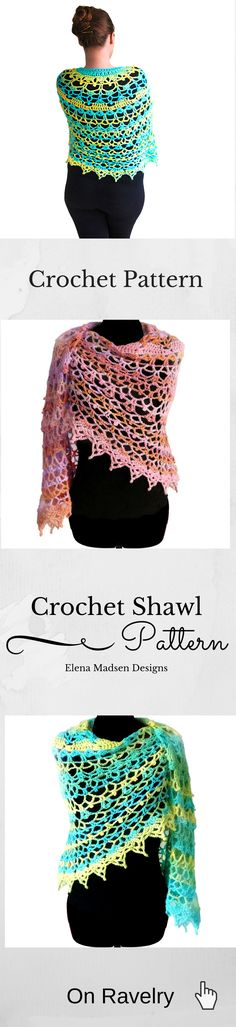 Crochet shawl pattern. Fully written crochet shawl pattern. Easy to read and follow. Worked up in Aran weight yarn and 6 mm (US J) crochet hook. Stunning!