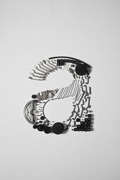 »typewriter helvetica« by johannes klein-reesink