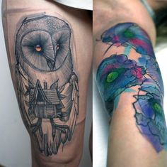 Great owl tattoo.