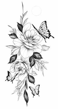 Pfau Tattoo, Lotusblume Tattoo, Piercing Tattoo, Piercings, Floral Tattoo Design, Flower Tattoo Designs, Flower Tattoos, Flower Tattoo Drawings, Rose Tattoos For Women