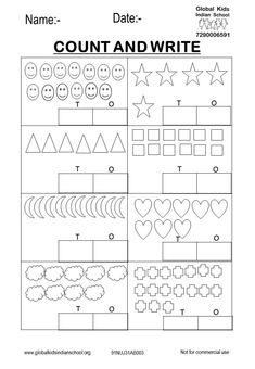 Kindergarten - Global Kids Indian School Coloring Worksheets For Kindergarten, Nursery Worksheets, Hindi Worksheets, English Worksheets For Kids, Kindergarten Math Worksheets, Preschool Learning Activities, English Activities, Reading Worksheets, Alphabet Worksheets