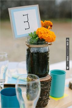 homemade table numbers | CHECK OUT MORE IDEAS AT WEDDINGPINS.NET | #wedding