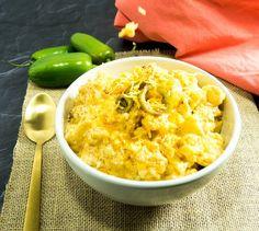 Spicy Crock Pot Cauliflower Mac & Cheese