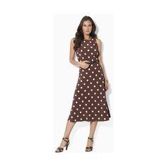 Ralph Lauren Sleeveless Belted Dress ($164) found on Polyvore