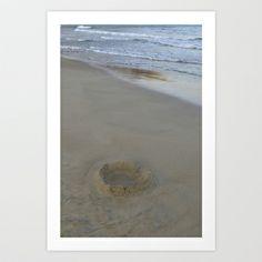 Sand Castle Art Print by Yarapoctli - $14.60
