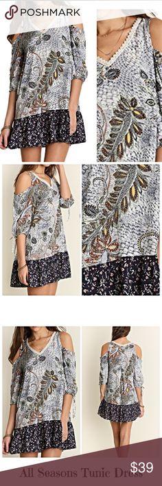 Spotted while shopping on Poshmark: Favorite Paisley Cold Shoulder Tunic Dress SML! #poshmark #fashion #shopping #style #Dresses & Skirts