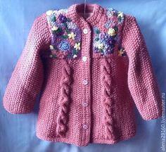 Картинки по запросу свитер для девочки спицами