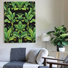 Pin for Later: 19 Palm-Print Items That'll Turn Your Home Into a Tropical Paradise Palm Valley Botanical Deco, Canvas Art Palm Valley Botanical Deco, Canvas Art (£65)