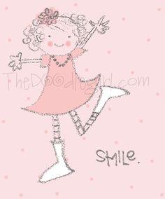 cute doodle girl