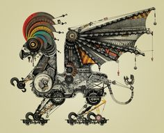 A menagerie of mechanical animals by Diego Mazzeo