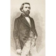 Giuseppe Fortunino Francesco Verdi 1813 -1901 Italian Composer From El Museo Universal Published Madrid 1862 Canvas Art - Ken Welsh Design Pics (11 x 18)
