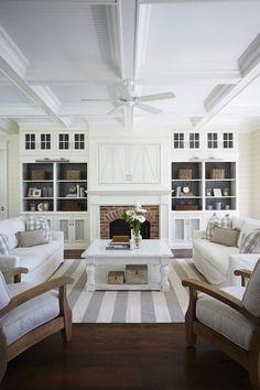 Modern Coastal Living | Gray and white modern coastal living room. | Humble abode