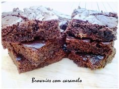 Brownies with caramel