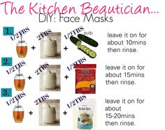 The Kitchen Beautician: DIY face Masks