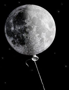 Moon Baloon via:  http://showslow.tumblr.com/post/44559885107/moon-baloon