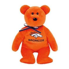 2015 Ty Denver Broncos Beanie Baby Bear Grey 8 in NFL Football Tailgate  Party 5a29d519a