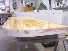 Building a New Cold Molded Fiberglass Swim Platform