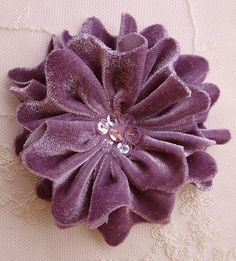 MAUVY GRAPE Velvet Ribbon Rose Fabric Sequin Beaded Flower Applique Hat Corsage Pin Baby Pageant Bridal Hair Accessory Applique - I realize in this trying time that we all still need to be creative. Safety is critical with handing - Ribbon Art, Fabric Ribbon, Velvet Ribbon, Ribbon Rose, Pink Velvet, Shabby Flowers, Fabric Flowers, Faux Flowers, Ribbon Flower Tutorial