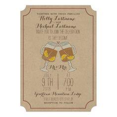 Stemmed Mason Jars Sweet Tea Wedding Cards by Jill's Paperie