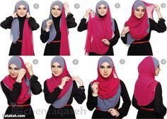 فخورة بحجابى (لفت طرحتى جننت صحبتى 2) الطرحة العريضة - منتدى فتكات
