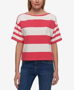 Tommy Hilfiger Mixed-Stripe T-Shirt, Only at Macy's