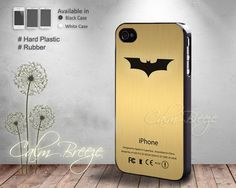 Batman iphone Logo  Print on Hard cover  by SamanthaCalmBreeze, $14.99