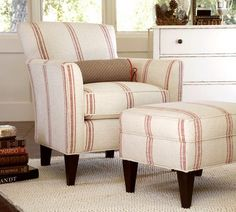 Pottery Barn- this would be a fun look w/a different color stripe