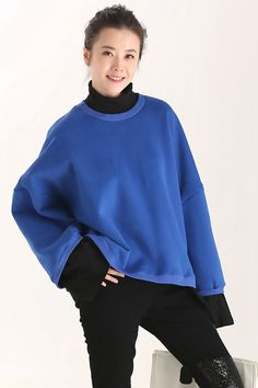 4f64387f15 Women Loose Quilted Blue Cotton Fleece For Fall R8703