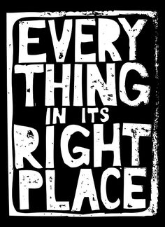 Everything in Its Right Place - Radiohead Art Print