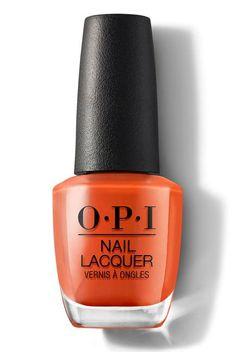 Orange Nail Polish, Orange Nails, Nail Polish Colors, Pink Nails, Opi Nail Polish Names, Nail Polishes, Interview Nails, Opi Red, Long Lasting Nail Polish