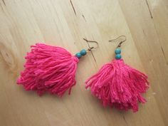 Pink Fringed Zulù Earrings