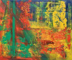 Abstract oil painting - RM 813 - 16 (Painting),  120x100x1.8 cm by Rico Mocellin Die Ölgemälde haben eine abstrakte Stil, viele Farben werden verwendet, um das Ergebnis sind bunte Kunstwerke mit unterschiedlichen Texturen.  Rico Mocellin's Kunstwerke sind das Ergebnis seiner Verrücktheit, in Farben umgewandelt.