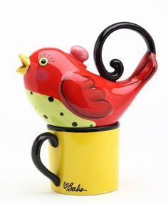 Red Bird, CHILDREN WOULD LOVE THIS TEA POT---I would love this teapot!!