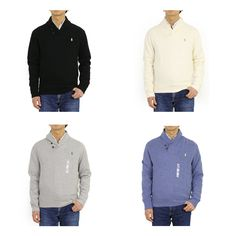 New Polo Ralph Lauren Pullover Shawl Collar Sweatshirts Sweat Sweater -- 4 colors --. polo sweater from top store Collared Sweatshirt, Polo Sweater, Pullover Sweaters, Ralph Lauren Pullover, Polo Ralph Lauren, Denim Button Up, Button Up Shirts, Shawl, Store