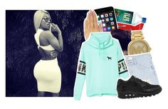 """online, pm me? [ Chyna )"" by p-roblems ❤ liked on Polyvore featuring Michael Kors, MANGO, Wet Seal, Victoria's Secret PINK and NIKE"