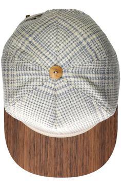 Sun hat   Baseball Cap   Silk/Wool blue/white   Walnut   Snapback Cap   One size fits all   Made in Germany