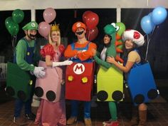 Mario Kart | 32 Ridiculously Clever Group Halloween Costumes