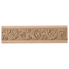Osborne Wood Products, Inc. 3 x x Leaf with Flower Frieze Moulding Gate Wall Design, Front Door Design Wood, Wood Molding, Baseboard Molding, Foam Carving, Carved Wood Wall Art, Wood Appliques, Classic Ceiling, Wood Carving Designs