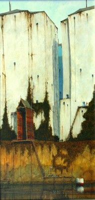 British Artist Cyril CROUCHER-The Tiller Camden