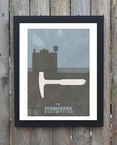 the shawshank redemption minimal minimalist movie film print poster